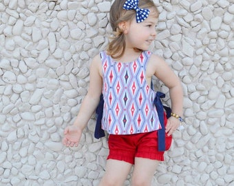 Baby/Child/Girl Navy Gingham Fabric Hair Bow Headband OR Hair Clip, White Navy Blue and Green Velvet Hair Bow, Child Checkered Hair Bow