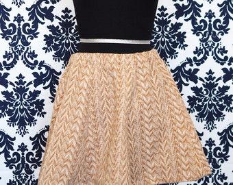 Vintage Fabric Mini Skater Skirt sz S
