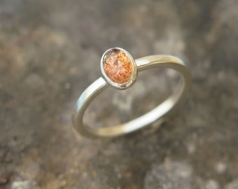 Sunstone ring, Sterling Silver ring, Sunstone Jewelry, Purity Ring Sunstone, Sun Stone band, Handmade silver ring with sunstone
