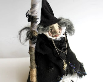 Witchy Poo No. 4 - Birch OOAK handmade crone witch doll