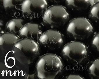 6mm black Swarovski pearls Style 5810 swarovski crystals (25)
