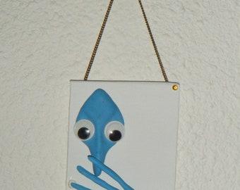 Mini 3D frame hanging Maria blue 8x10cm