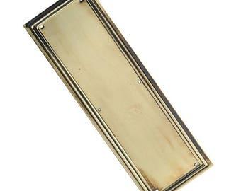 Antique Brass Lincoln Door Push Plate  sc 1 st  Etsy & Door push plate   Etsy