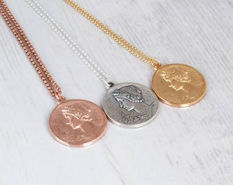 Gold Coin Necklace, Sterling Silver Coin Necklace, Boho Necklace, Rose Gold Coin Necklace, Coin Jewelry, Long Necklace, Extra Long Necklace