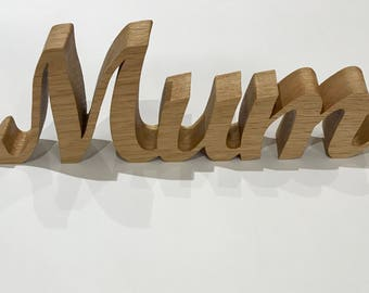 Mum plaque, solid wooden mum sign, Mother's Day gift, birthday present. Mum sign, mummy, wooden gifts.