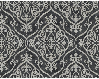 Y6150706 Light Taupe Black Interlocking Geometric Damask with Glitter Wallpaper