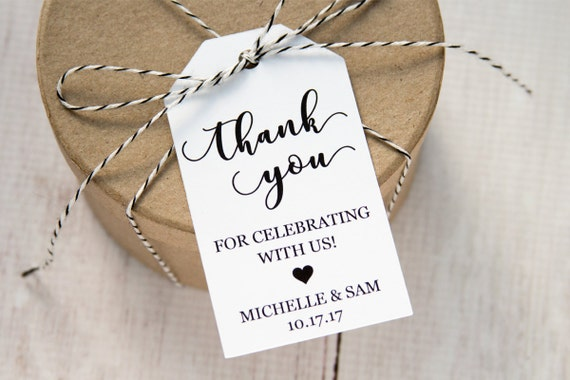 Thank you for celebrating with us wedding favor tags custom tags wedding labels wedding favor ideas personalized tags medium from