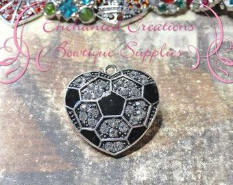 26mm Heart Soccer Pendant