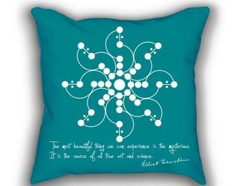 Einstein and Crop Field throw pillows