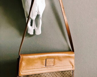 Vintage Gucci Crossbody Messenger Bag / Gucci Purse