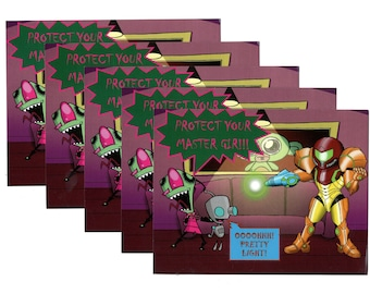 Invader Zim Vs Samus Postcards Five Count