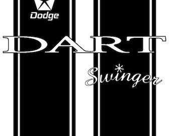 Racing Stripes T-Shirts Dodge Dart Swinger