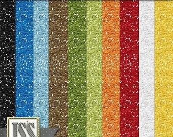 On Sale 50% Off Digital Scrapbooking Kit School Rules 12x12 Glitter Sheets - Digital Scrap Kit