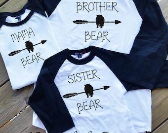Mama Bear Raglan Shirt, Papa Bear Raglan Shirt, Brother Bear Raglan Shirt, Sister Bear Raglan Shirts, Family Bear Shirts, Bear Raglan Shirts