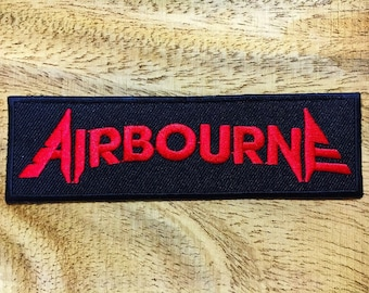 New US Military Name Tag Airborne Logo Embroidered Iron on Patch