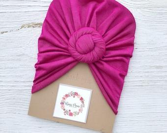 Fushia Pink Turban