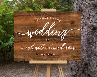 Welcome Wedding Sign | Printable Welcome Sign | Wedding Signs | Wedding Day Signs  | 18x24"
