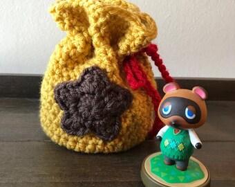 Handmade/Knit/Crochet Animal Crossing Dice Bag