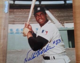 Detroit Tiger Willie Horton 1968 W.S. Autograph 8X10 Photo