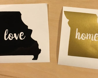 Missouri - State Love Decal - Vinyl Decal