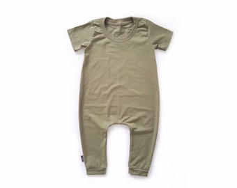 MiBaby Basics • Baby / Toddler T-shirt Romper • MILITARY