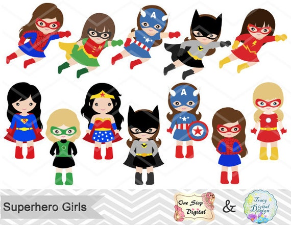 27 superhero girls digital clipart superhero clip art girl superhero clip art little girl super hero clipart super hero clip art - Super Heros Fille