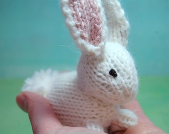 Toy Bunny, Stuffed Bunny, Knit Bunny Rabbit, White Nursery, White Bunny, Easter Bunny, Bunny Plush, Waldorf Bunny, Bunny Nursery, Woodland