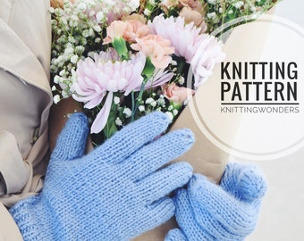 KNITTNG PATTERN ⨯ Gloves, Easy Knitting Pattern ⨯ Women's Gloves, Knitted Gloves ⨯ Easy Knit Pattern PDF ⨯ Fall Fashion Gloves Knitted