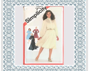 Simplicity 5284 (1981) Misses' pullover dress in two lengths - Vintage Uncut Sewing Pattern