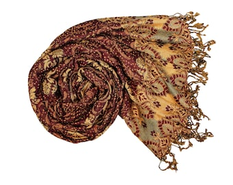 Garnet Red Pashmina Ultra Smooth Cashmere Feel Soft Shawl Style Wrap IN1