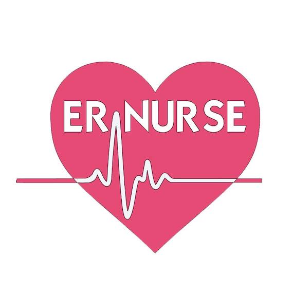 ER Nurse Vinyl Decal Emergency Room