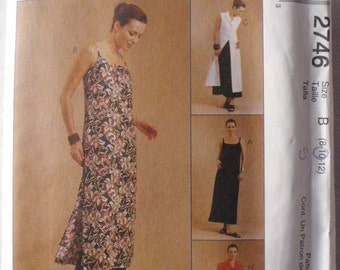 Misses/Misses Petite Slipdress, Shirt Dress and Pants Sewing Pattern - McCalls 2746 - Sizes 8-10-12, Bust 31 1/2 - 34, Uncut