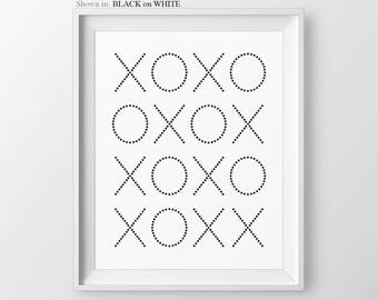 XO Print Gallery Wall Prints Engagement Gift XOXO Wall Art Bedroom Decor Gallery Wall Art Love Quote Xoxo Print Bedroom Wall Decor Xo Art