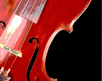 The Red Violion, Vintage Violin Photographs, Antique Violin Photos, Violin Prints, Gift for music teacher, Music room decor, violin art