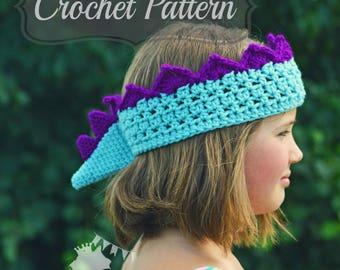 Crochet Pattern PDF, Dinosaur Crown, Boys Crown Pattern, Dino Birthday Crown, Crochet Crown PDF, Girls Crochet Crown, Dinosaur Birthday