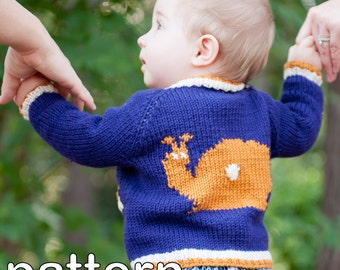 make your own Tipped Baby Cardigan (DIGITAL KNITTING PATTERN) newborn baby  toddler