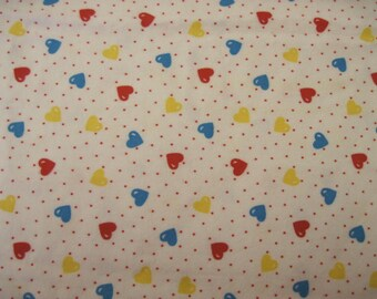 Hearts and Dots Flannel Fabric