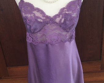 L/ SILK/ Victoria's Secret/ Chemise/Lavender/Purple/Large