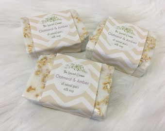 Oatmeal & Amber Natural Goat's Milk Soap