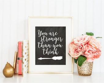 You Are Stronger Than You Think Print Wall Art