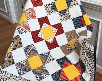 Baby boy quilt, baby boy blanket