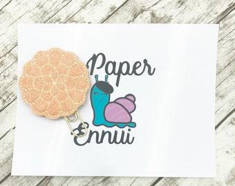 Peach Dahlia Flower Planner Clip Paper clip Planner charm Bookmark