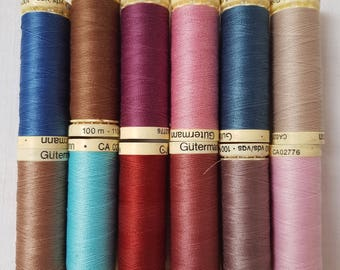 SALE 12 assorted spools sew-all thread Gutermann 100mt 110 yds 100% polyester