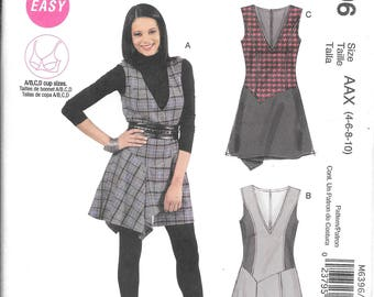 McCall's 6396 Easy Misses Fitted Bust, Lined Bodice Jumper Pattern (4-10)
