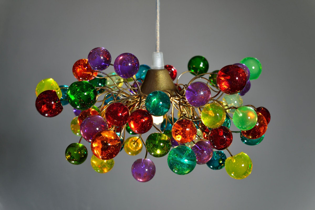 Pendant light colorful bubbles ceiling light fixture for zoom arubaitofo Image collections