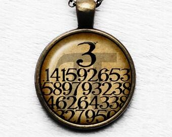 Math Mathematical Pi 3.14159 Pendant & Necklace