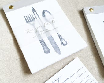 Letterpress Printed Recipe Card Booklet