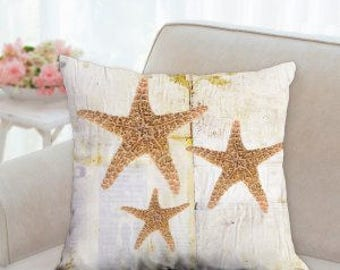 Rustic Star Fish Pillow