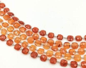 "Carnelian Checker Beads 6-7 mm (ONE 8"" Strand)"