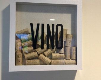 VINO shadowbox - wine cork collector